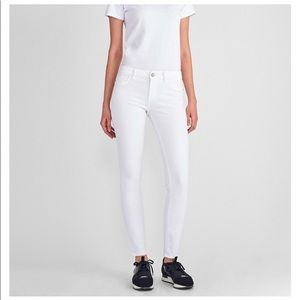 NWT DL1961 White Florence Cropped Skinny Jeans